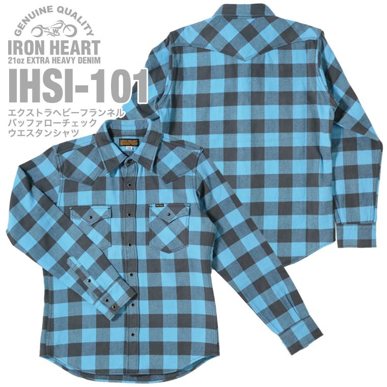 【 IHHS-101 】エクストラヘビーフランネルバッファローチェックウエスタンシャツ