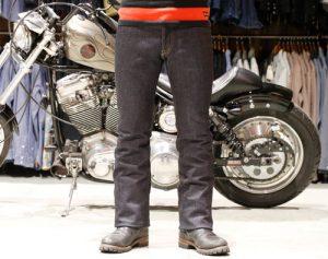 4. バイクに乗る際や普段使いにとってベストな丈の長さで裾上げすれば完成です。